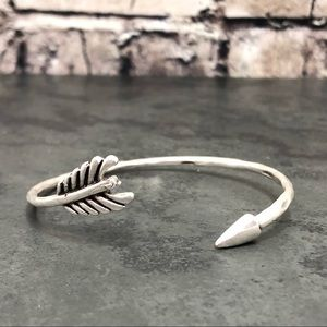 Jewelry - NEW Ethnic Boho Arrow Wrap Silver-tone Bracelet
